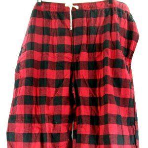 Joe Boxer Big Men Plaid Checkerboard Red/Black Paj